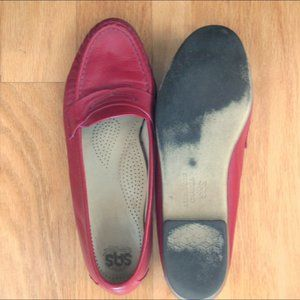 SAS Red leather loafer shoes 9N